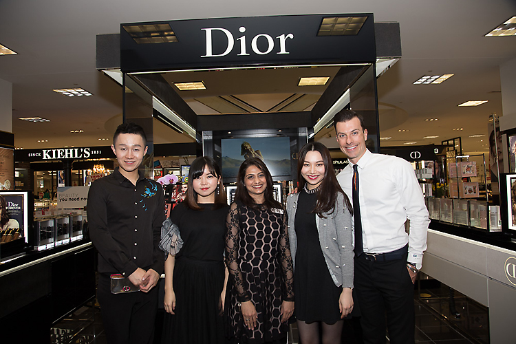 Sales staff at Dior