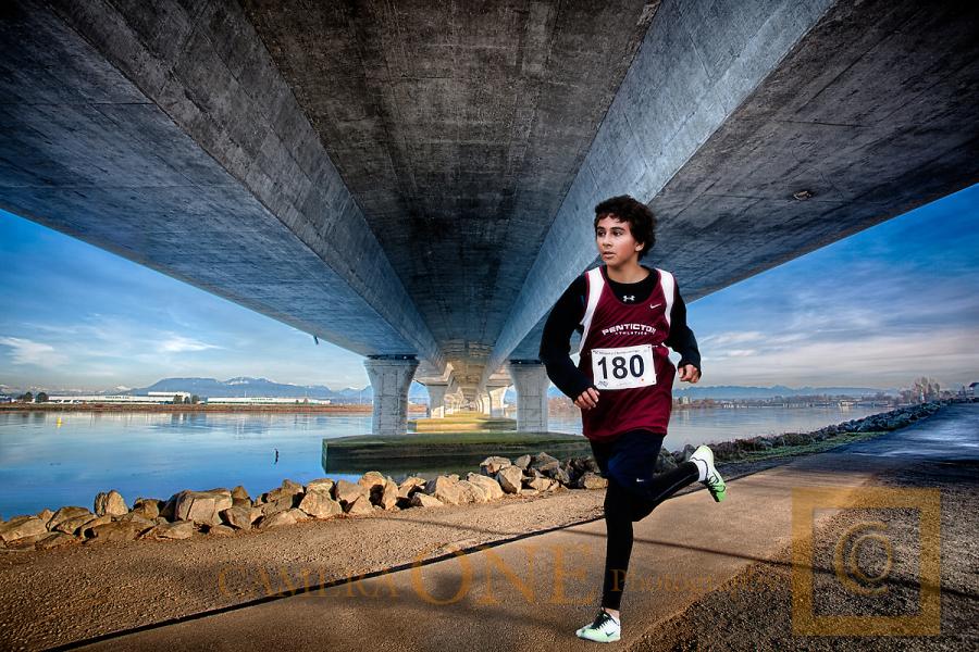 Long distance track & field runner